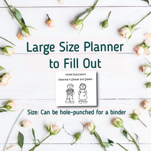 Large Size Planner