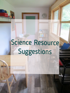 Science Resource Suggestions