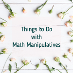 Things to Do with Math Manipulatives