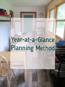 year homeschool planning