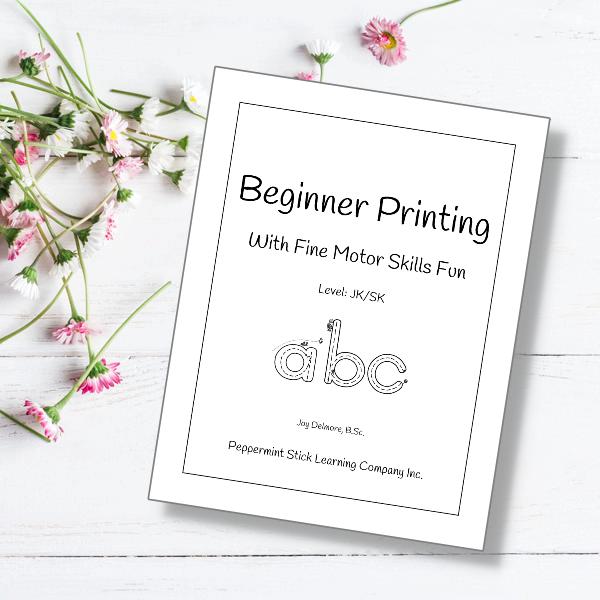 Beg Printing with Fine Motor Fun