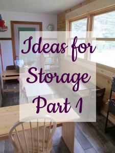 Ideas for Storage Part 1 HS