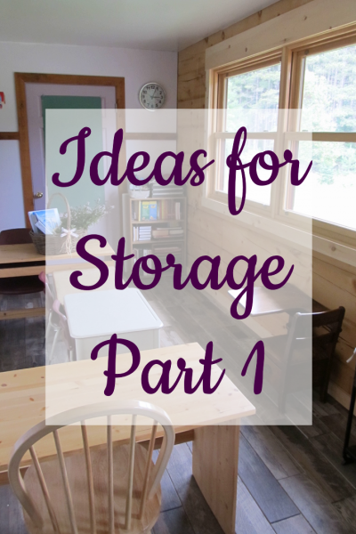 Ideas for Storage Part 1 HS
