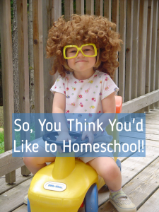 So you think you'd like to homeschool pic