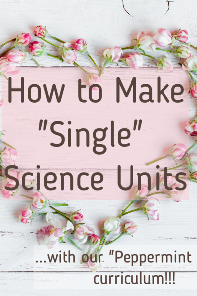 How to Make Single Science Units fi