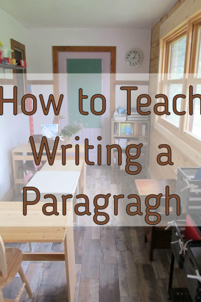 How to Teach Paragraph Writing