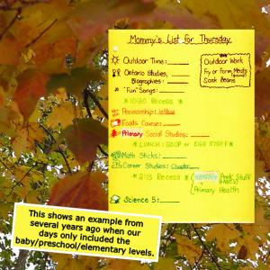 homeschool schedule th2