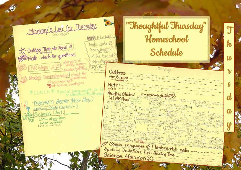 homeschool schedule th4