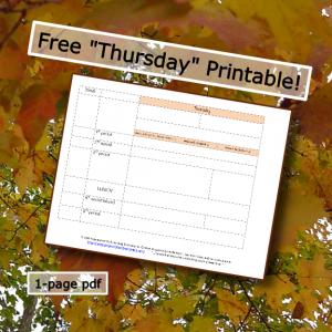 homeschool schedule th printable button