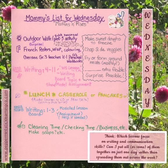 homeschool schedule w6