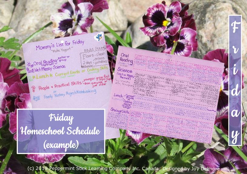 homeschool schedule f2