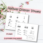 Hallway Display Vowels Poster
