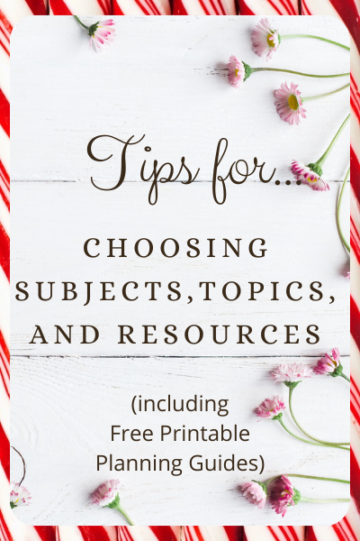 Tips for Choosing Topics and Resources